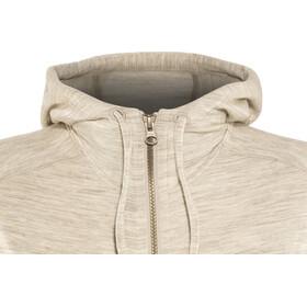 Icebreaker Dia LS Zip Hood Jacket Damen fawn heather